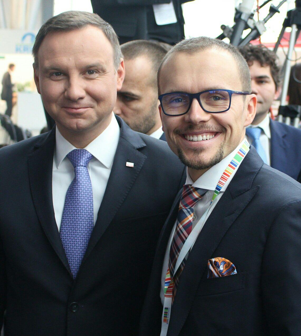 With Andrzej Duda, President of Poland