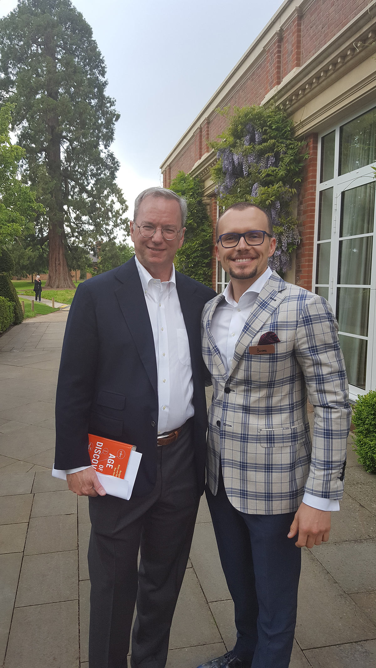 With Eric Schmidt CEO of Alphabet/Google, London