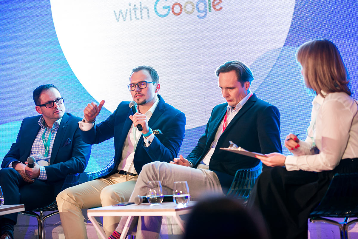 With Paweł Kisiel CSO of Atlas Group and Artur Waliszewski CEE Regional Business Director Google at Think with Google